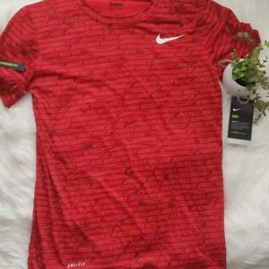 Nike Dry Fit Standard Red Sport Shirt
